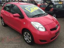 2011 Toyota Yaris NCP90R 10 Upgrade YR Pink 5 Speed Manual Hatchback Lansvale Liverpool Area Preview