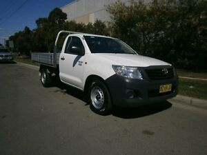 2012 Toyota Hilux TGN16R MY12 Workmate White 5 Speed Manual Cab Chassis South Windsor Hawkesbury Area Preview