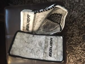 BAUER Reactor R4000 Glove & Blocker  (Intermediate)