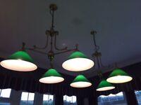 Snooker/ Pool Table - pendant & Wall Lights