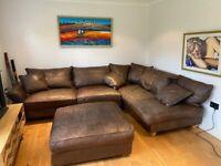 Large L-Shaped leather sofa