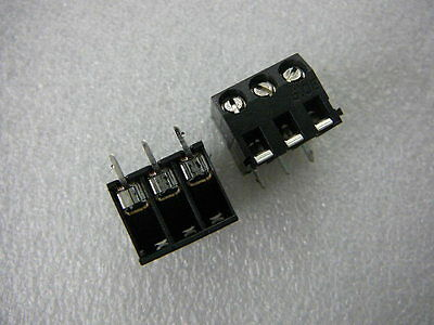 AMP 786469-3 Fixed Terminal Block CONNECTOR 5.08 R/A 3-Pin Board Mount NEW Qty.2 ()