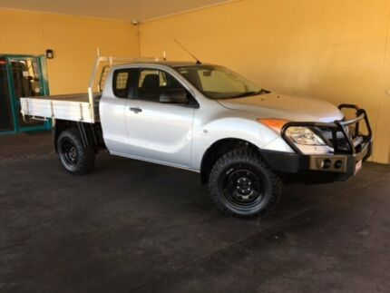 2014 Mazda BT-50 MY13 XT (4x4) Silver 6 Speed Manual Freestyle C/Chas