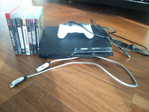 Slim Playstation 3 with 10 games
