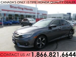 2018 Honda Civic Sedan TOURING | TINT | PROTECTION PKG. | LOW KM
