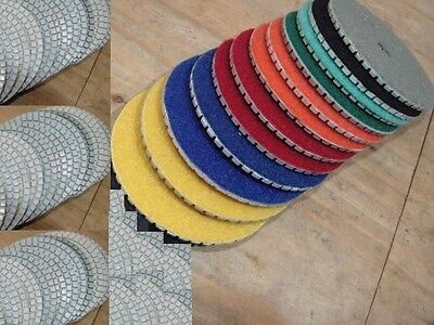 6 Inch Diamond Polishing Pads 18 Piece Set Wetdry Granite Concrete Stone Marble