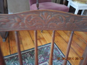 Antique Press Back Childs Rocking Chair