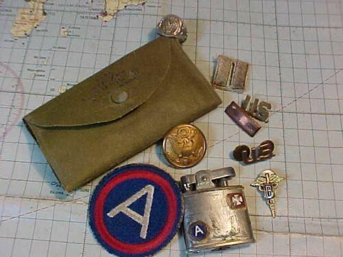 ORIGINAL WWII US SMALL DENTIST LOT - LIGHTER / PATCH / ETC