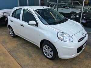 2014 Nissan Micra K13 MY13 ST Geneva White 4 Speed Automatic Hatchback Hobart CBD Hobart City Preview