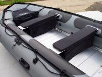 Brand New 4.2m inflatable boat dinghy tender rib aluminium deck v keel dive fishing