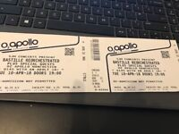 2 X BASTILLE REORCHESTRATED, MANCHESTER, 10 APRIL (PICK UP BRISTOL/GLOS/NEWPORT)