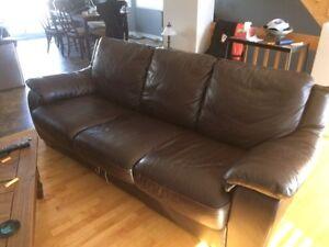 Divan lit / sofa lit / couch hide a bed en cuir véritable