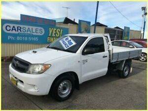 2007 Toyota Hilux KUN16R 07 Upgrade SR White 5 Speed Manual Cab Chassis Kogarah Rockdale Area Preview