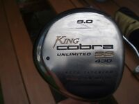 COBRA DRIVER WITH COVER - KING COBRA SS 430 9.0 DEGREE GRAPHITE SHAFT WITH COVER