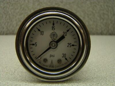 Mcdaniel Controls 0-30 Psi Pressure Gauge Back Mount