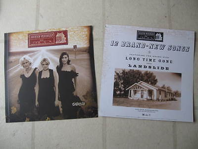 """DIXIE CHICKS 2002 """"Home"""" PAIR (2) PROMOTIONAL DISPLAY FLATS"""