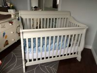 Crib, change table and rocking chair