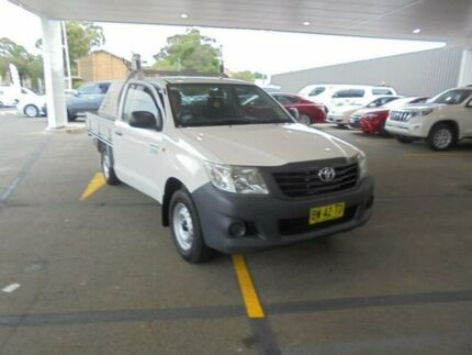 2013 Toyota Hilux TGN16R MY12 Workmate Glacier White 5 Speed Manual Cab Chassis South Hurstville Kogarah Area Preview