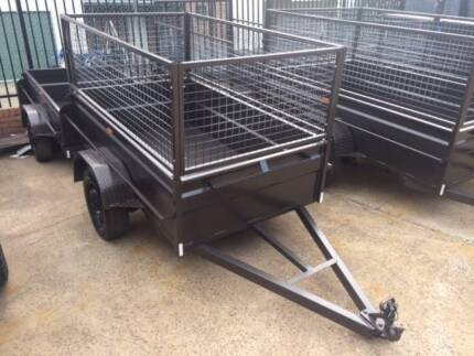 7X4 High Sides Caged Box Trailer 1yr Rego ON SITE Included
