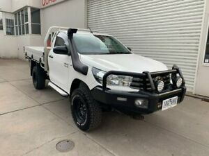 2019 Toyota Hilux GUN126R SR White 6 Speed Sports Automatic Cab Chassis Colac Colac-Otway Area Preview