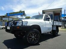 2007 Nissan Patrol GU MY08 DX (4x4) White 5 Speed Manual Cab Chassis Parramatta Park Cairns City Preview