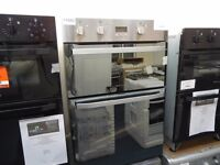 EX-DISPLAY STAINLESS STEEL HOTPOINT BUILT IN DOUBLE OVEN REF: 11655