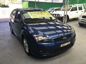 2008 Ford Focus LT Zetec Dark Blue 4 Speed Automatic Hatchback Five Dock Canada Bay Area Preview