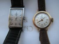Omega and Record ladies watches