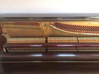 Upright Piano - John Broadwood & Sons. Good condition. Inc stool.