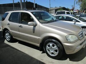 2003 Mercedes-Benz ML350 W163 MY03 Luxury Champagne 5 Speed Sports Automatic Wagon Tottenham Maribyrnong Area Preview