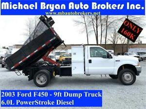 2003 FORD F450 9FT DUMP TRUCK *DIESEL* ONLY 160K *GREAT PRICE*