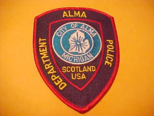 ALMA MICHIGAN POLICE PATCH SHOULDER SIZE UNUSED