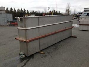Stainless Steel Plating Tanks 12 x 2' x 4.5'
