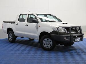 2011 Toyota Hilux KUN26R MY12 Workmate (4x4) White 5 Speed Manual Dual Cab Pick-up Jandakot Cockburn Area Preview