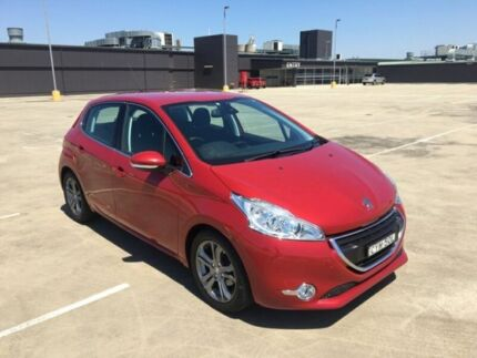 2014 Peugeot 208 A9 MY14 Allure Red 4 Speed Automatic Hatchback