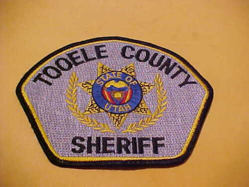 TOOELE COUNTY UTAH POLICE PATCH SHOULDER SIZE USED