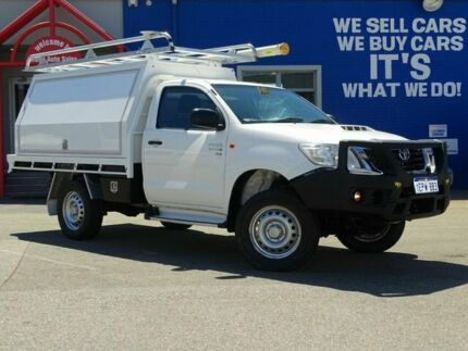 2014 Toyota Hilux KUN26R MY14 SR White 5 Speed Manual Cab Chassis Welshpool Canning Area Preview