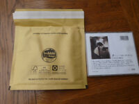 100 Gold 6.5 x 6.5in 117 x 117mm CD Bubble Lined Mailing Post Office Padded Envelopes Self Seal Bags