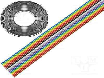 Flachbandkabel Meterware 16polig 10-Farbig 28AWG 1,27mm BQ Cable