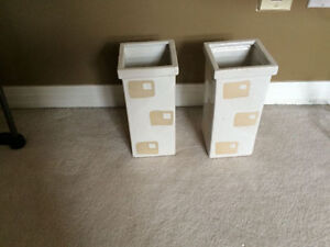 Excellent Condition Urban Barn Square Vases- I have 2 Available Strathcona County Edmonton Area image 1