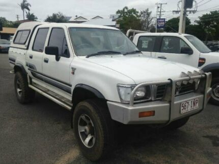 1996 Toyota Hilux LN107R SR5 DUAL CAB White Manual Utility Greenslopes Brisbane South West Preview