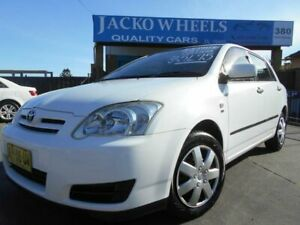 2005 Toyota Corolla ZZE122R Ascent Seca White 4 Speed Automatic Hatchback Bankstown Bankstown Area Preview