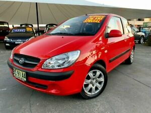 2009 Hyundai Getz TB MY09 S Red 4 Speed Automatic Hatchback Hamilton Newcastle Area Preview