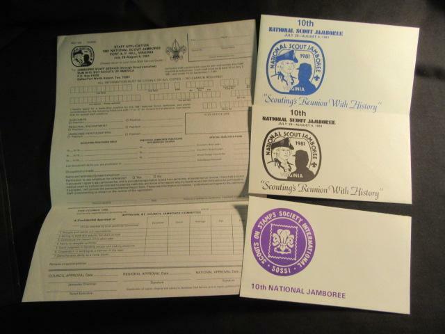 1981 National Jamboree Staff Application & SOSSI Cachets
