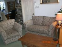 TWO SEATER SOFA AND MATCHING CHAIR EXCELLENT CONDITION LITTLE USE