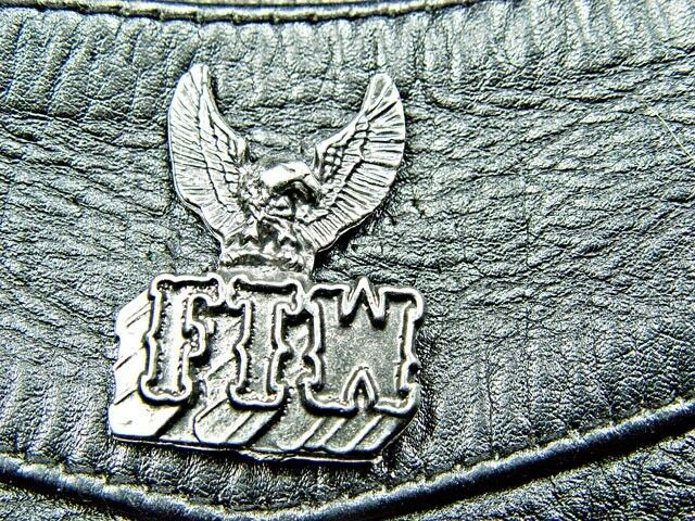 Eagle FTW Vintage Classic Motorcycle Pewter Biker Pin 1166