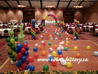 Event decorations balloon structures lights Ottawa