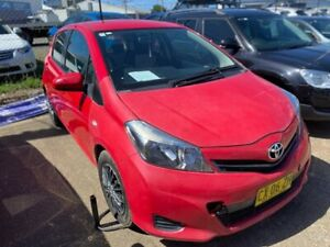 2012 Toyota Yaris NCP130R YR Red 4 Speed Automatic Hatchback Wickham Newcastle Area Preview