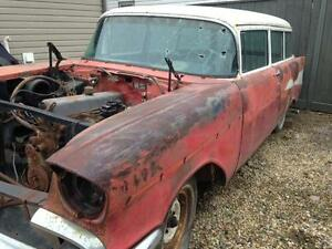 1957 Chev. 210 RARE 2 Door WAGON Great winter project