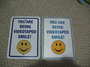 Smile Your Being Video Taped Signs